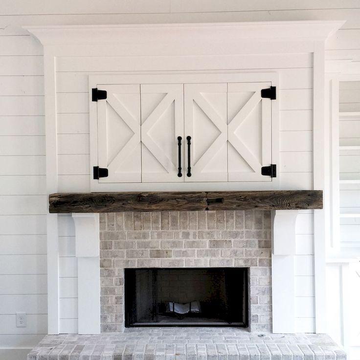 Farmhouse style fireplace ideas (79)