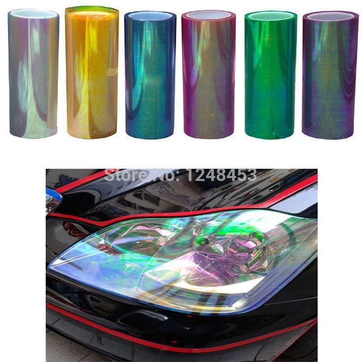 120 Cm 30 Cm Shiny Chameleon Auto Auto Styling Scheinwerfer Ruckleuchten Film How To Clean Headlights Light Film Car