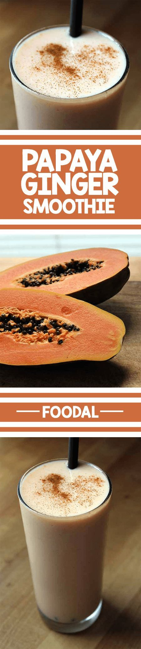 Looking for a refreshing and spicy drink that is also healthy? We have a delicious papaya ginger smoothie recipe right here at Foodal. It is easy to make, without an abundance of ingredients. Get the recipe now. http://foodal.com/drinks-2/smoothies/papaya-ginger-smoothie/