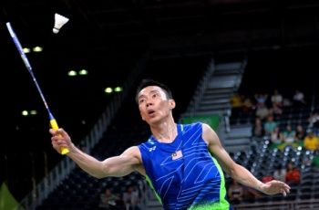This file picture taken on Aug 17, 2016 shows Datuk Lee Chong Wei in action during the badminton quarter finals match at the Rio Olympics 2016 in Rio De Janeiro. — Bernama