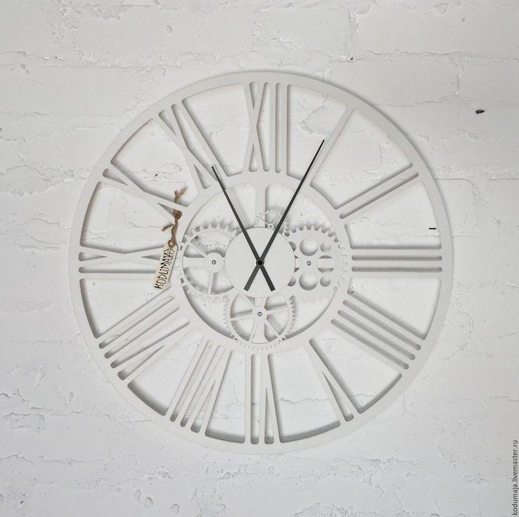 """Купить Часы 50 см """"Kaiku"""" белые - дизайнерские часы, часы настенные, настенные часы"""
