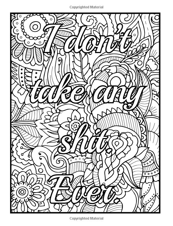 313 Best Swear Word Coloring Pages Images On Pinterest