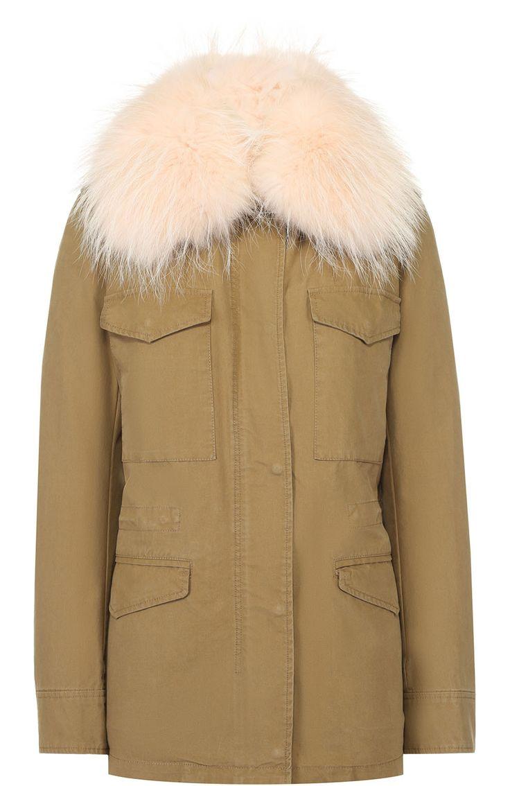 Army by Yves Salomon - Raccoon fur trimmed parka jacket