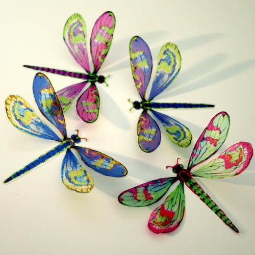 DF008 - 12 Pk Mixed Artificial 3D Dragonflies