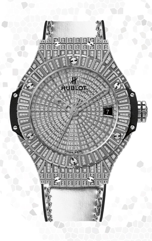 #Hublot Big Bang Steel Caviar Full Pavé | #watch #watches #diamonds #fashion #ootd #BigBang
