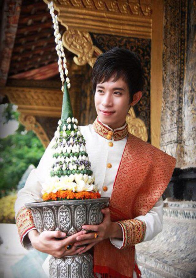 Traditional Male Luang Prabang Attire | Traditional Lao ...