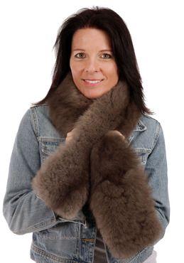 Tucker Baby Alpaca Fur Scarf - cozy