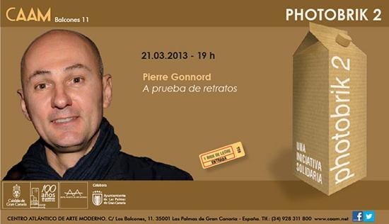 """El Centro Atlántico de Arte Moderno (CAAM), como parte del programa de conferencias del proyecto artístico y solidario 'Photobrik', recibe hoy, jueves 21 de marzo de 2013, al fotógrafo Pierre Gonnord, quien a partir de las 19,00 expondrá su charla """"A prueba de retratos""""."""