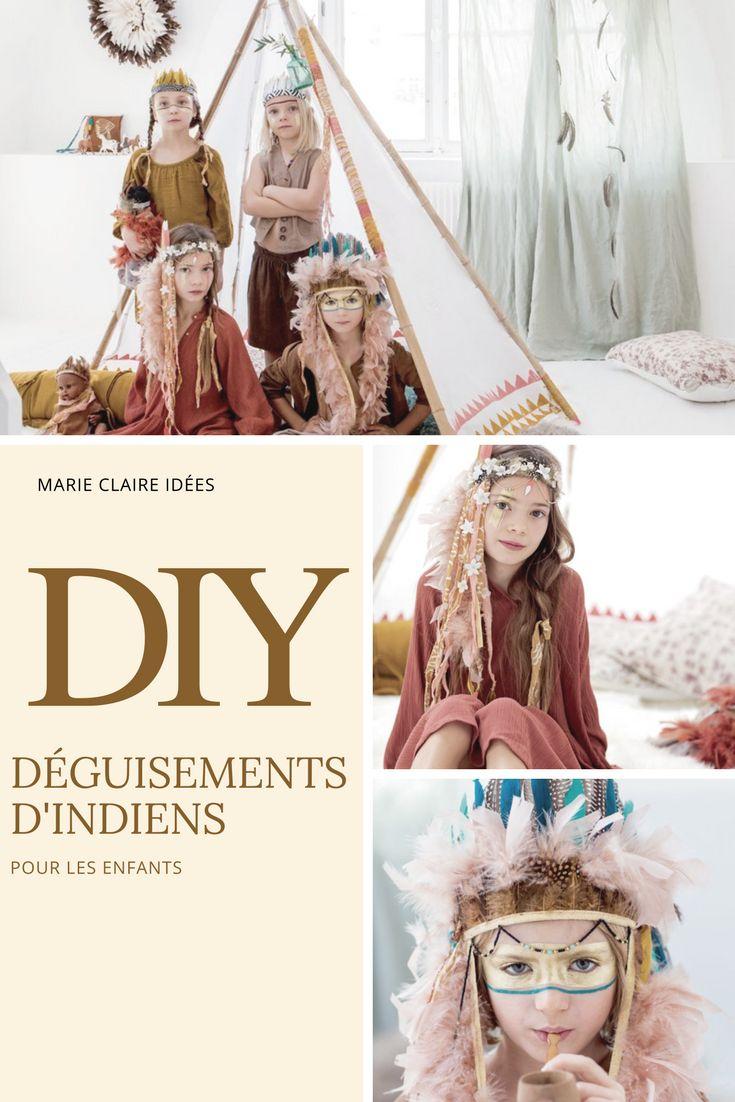 DIY pour les enfants - costumes et déguisements indiens - Marie Claire idées
