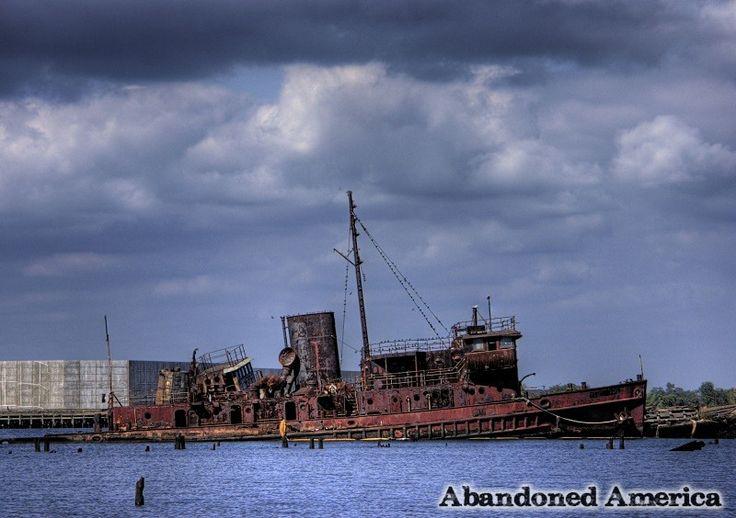 h. richardson marine salvage yard ship graveyard - matthew christopher murray's abandoned america