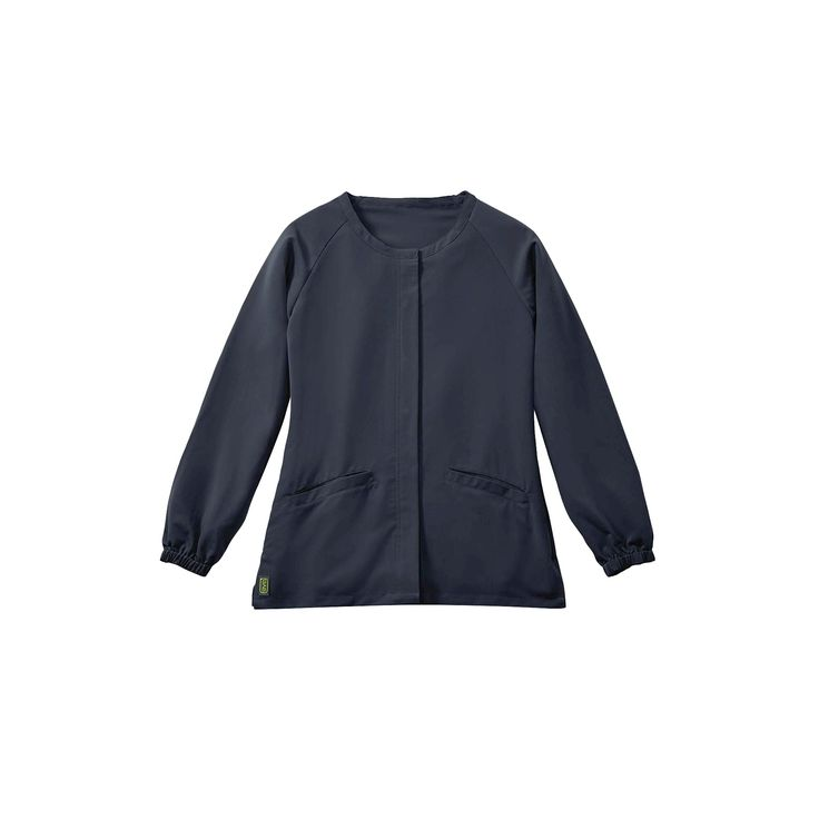 Addison Ave Scrub Jacket Charcoal Large, Dark Gray