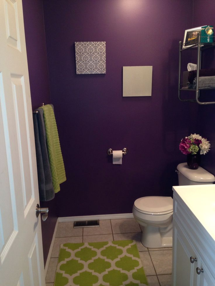 Purple and green bathroom. SW Plummy 6558
