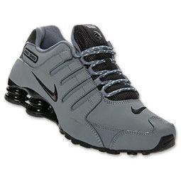 Men's Nike Shox NZ EU Running Shoes  | Finish Line | Cool Grey/Black/Geyser Grey