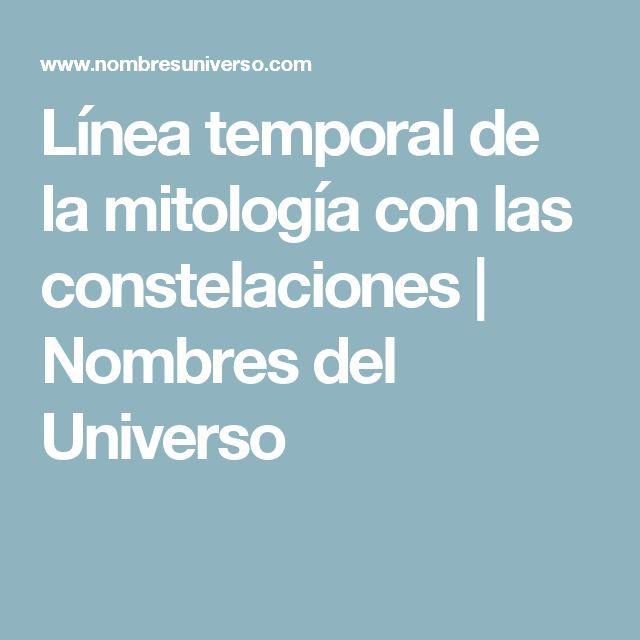 Línea temporal de la mitología con las constelaciones | Nombres del Universo