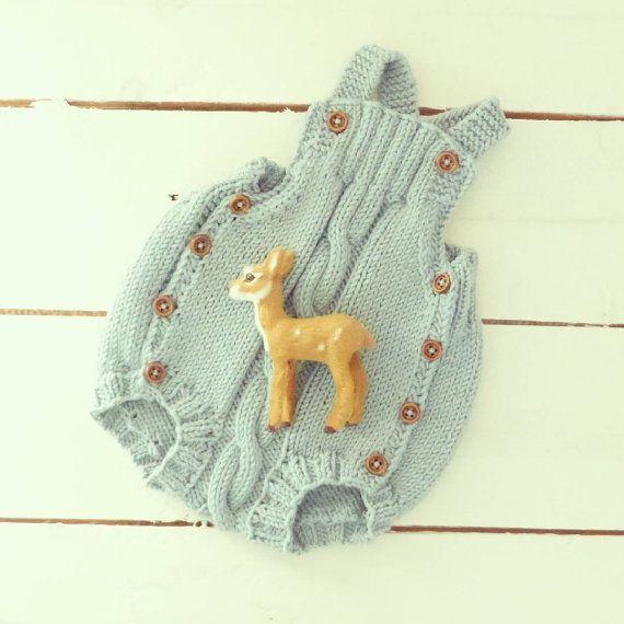 Brei bodietje - handgemaakte onesies - baby broek - pasgeboren romper - baby overall - pasgeboren props - baby foto rekwisieten-