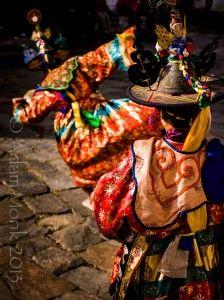 Black Hat Dancers of Bumthang, Bhutan.