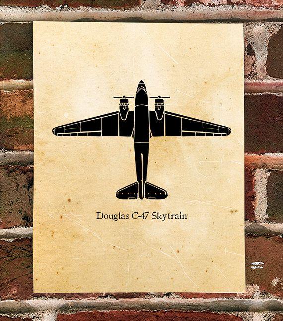 KillerBeeMoto: Limited Print Douglas C-47 Skytrain Cargo Transport Plane