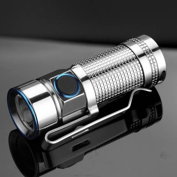 Olight S1 BATON Titanium CREE XM-L2 500LM Mini EDC LED Flashlight