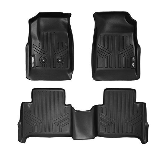 MAXFLOORMAT Floor Mats for Chevy Colorado / GMC Canyon (2015-2017) Crew Cab Complete Set (Black). For product info go to:  https://www.caraccessoriesonlinemarket.com/maxfloormat-floor-mats-for-chevy-colorado-gmc-canyon-2015-2017-crew-cab-complete-set-black/