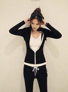 2014韩版女装秋季新款韩国运动服修身显瘦套装开衫卫衣长裤两件套装