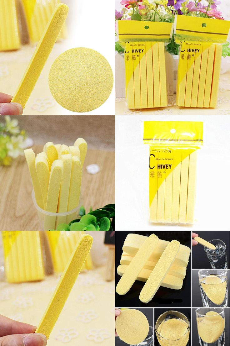 [Visit to Buy] 12PCS/Bag Cosmetic Puff Compress Cleansing