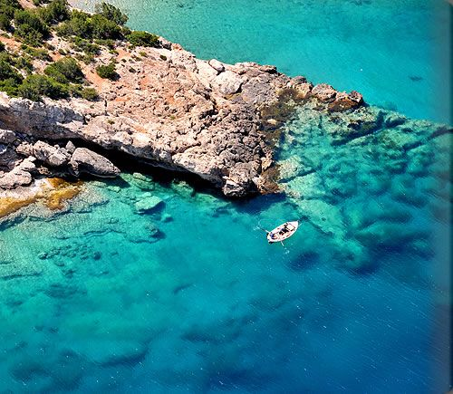 spot near the town of Porto Heli on the east coast of the Peloponnese, Greece