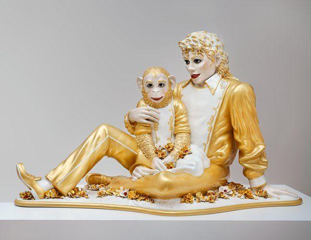 Jeff Koons, Michael Jackson and Bubbles, 1988; sculpture; ceramic, glaze, and paint