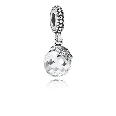PANDORA | Moon & star, clear cz