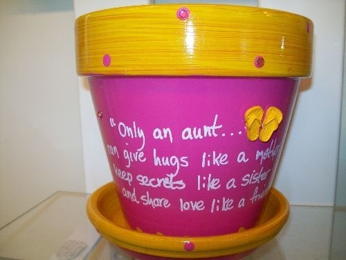 Good gift to make for Auntie Jac ond day!  Only an aunt…can give hugs like a mother, keep secrets like a sister…