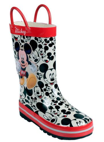 kids gumboots with mickey detail