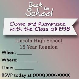 17 best high school reunion invitations images on pinterest class reunion invitation stopboris Image collections