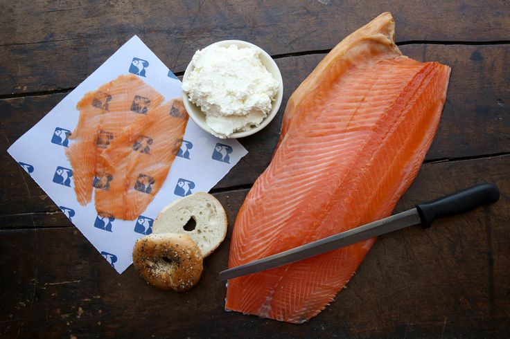 The Classic Bagel and Salmon Sandwich at Russ & Daughters in New York City
