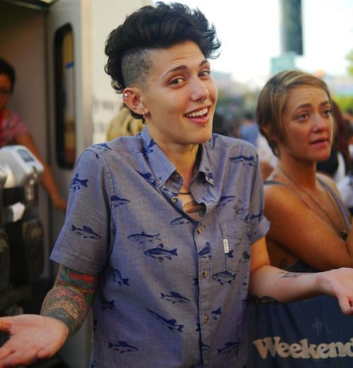 fashion style tattoos short hair tomboy tomboy style boyish boyish girl boyish style