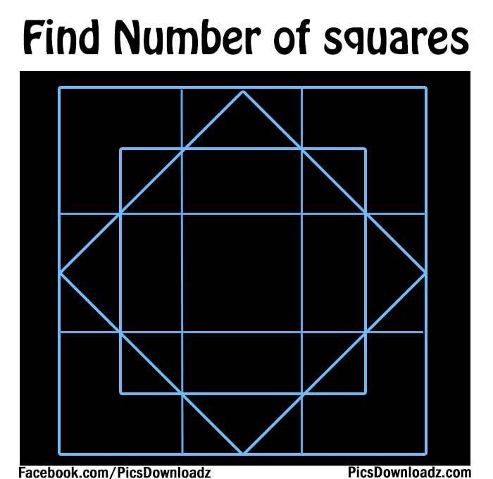 Find the number of Squares – Brain Teasers Puzzles - http://picsdownloadz.com/puzzles/find-the-number-of-squares-brain-teasers-puzzles/
