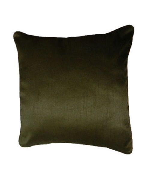 Faux Silk Black Cushion Cover – Linen and Bedding