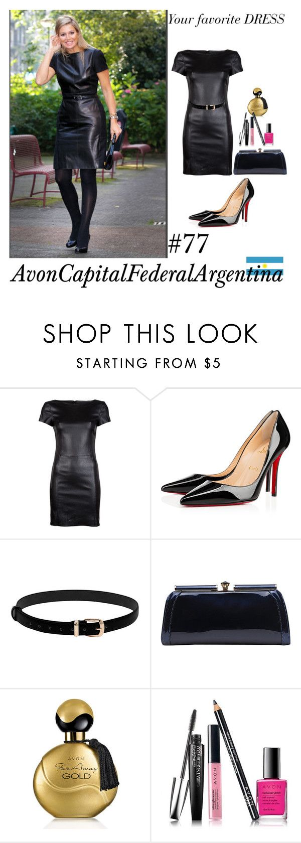 """""""Your favorite DRESS"""" by avon-capital-federal-argentina ❤ liked on Polyvore featuring Drome, Christian Louboutin, MKF Collection, Avon, Argentina, 2016, maxima and yourfavoritedress"""