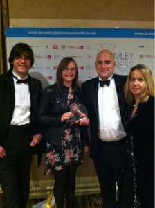 Ecce Media win best small business in Bromley business awards