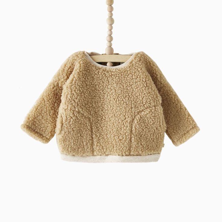 boxy pullover (natural faux sherpa)