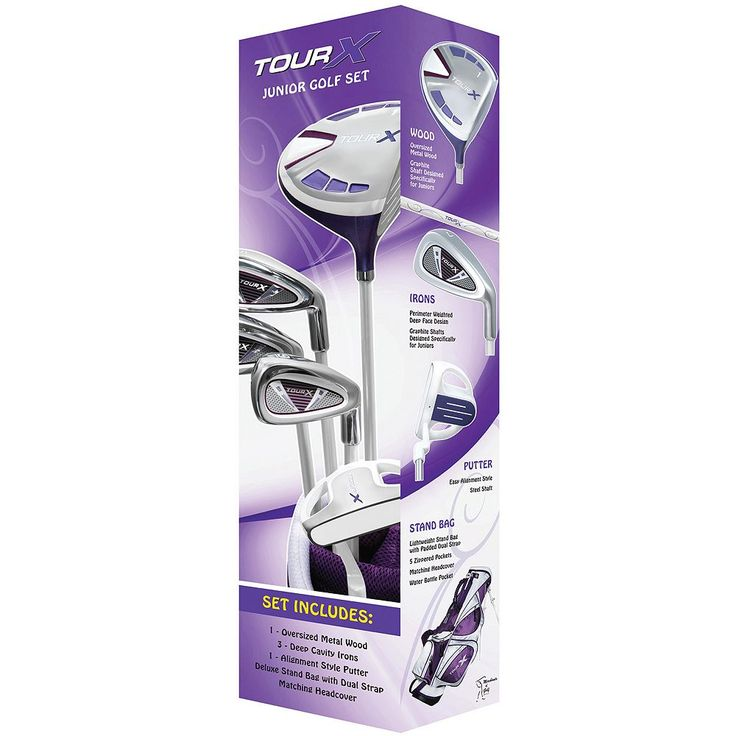 Merchants of Golf Tour X Left Hand 5-Club Golf Club and Bag Set - Girls, Purple