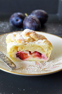 Ninas kleiner Food-Blog: Fruchtige Blätterteig Käsekuchen Päckchen