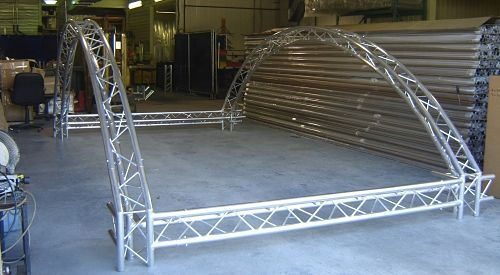 Custom Aluminum Lighting Truss Archway by VersaTruss Plus http://versatrussplus.com