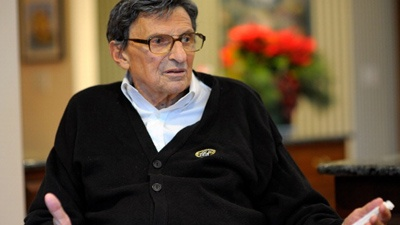 Legendary former Penn State football coach Joe Paterno died on Sunday after suffering from lung cancer.  He was 85.