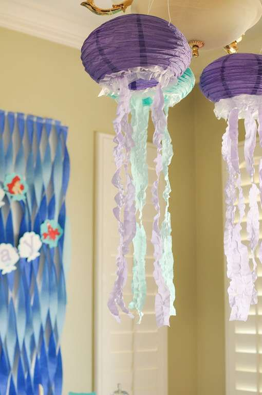 The Little Mermaid Birthday Party Decorations! See more party planning ideas at CatchMyParty.com!