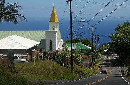 Honoka'a Town on the northeastern side of Hawaii Island, just north of Hilo, along the Hamakua Coast.