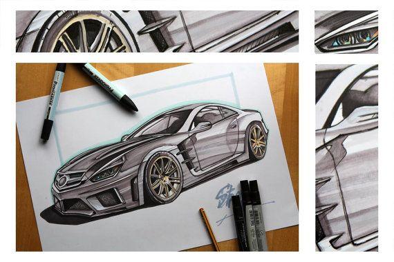 Original Super Car  Mercedes Brabus by NewHomeDecor on Etsy