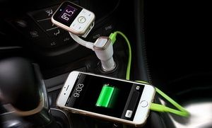 Groupon - 4-in-1 Car Bluetooth speaker, Music Player, FM Transmitter and Charger. Groupon deal price: $23.99
