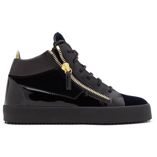Giuseppe Zanotti Kriss ($685) ❤ liked on Polyvore featuring shoes, sneakers, blue, lace up, blue sneakers, giuseppe zanotti trainers, lace up shoes, giuseppe zanotti and rubber sole shoes