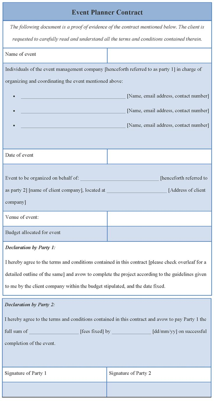 Event Planning Format receipt letter for money received – Event Planner Contract Example