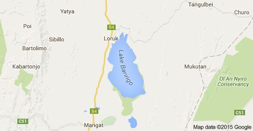 Map of Lake Baringo, Kenia