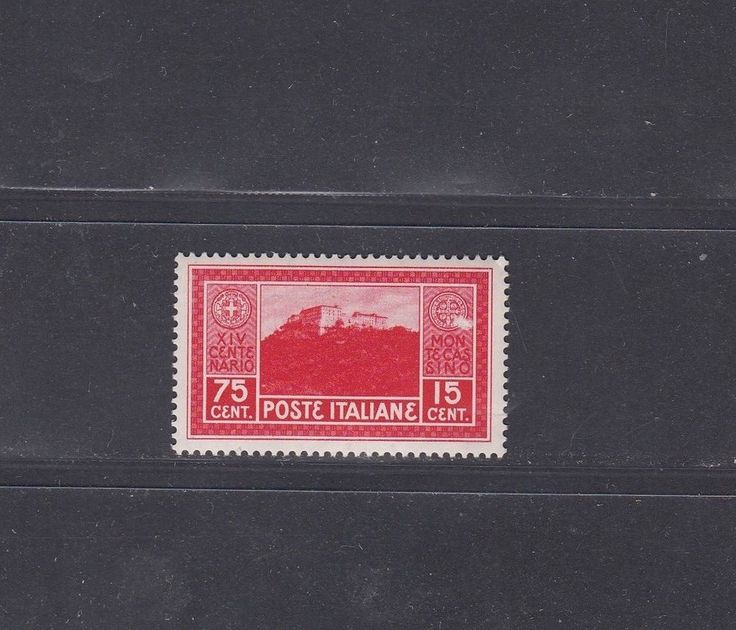 1442 Italy Stamps MNH Poste Italiane 1929 Monte Cassino Red 75+15 C Very Rare ££